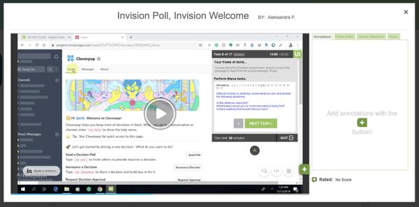 Cloverpop Slack TryMyUI Video Usability Test