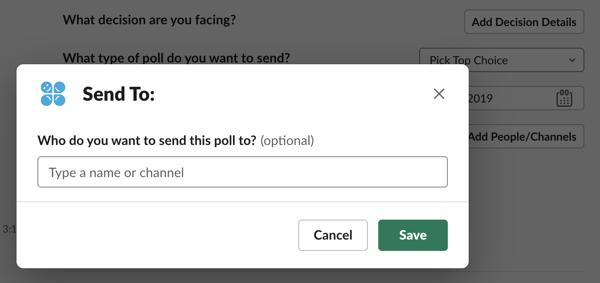 Cloverpop Slack Decision Poll Modal